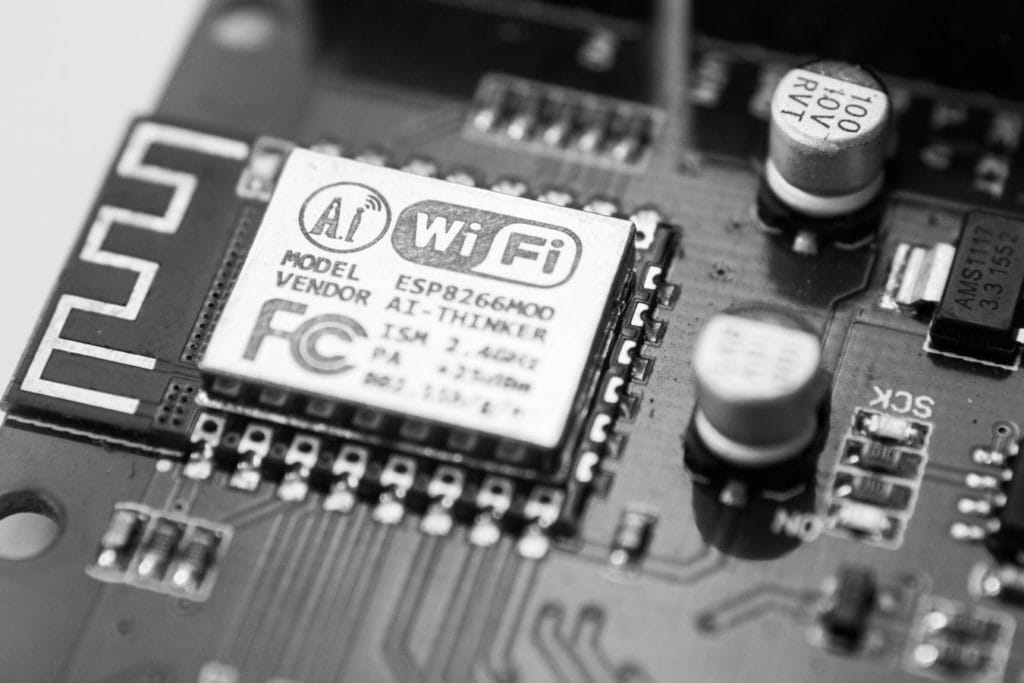 Moederbord mt WiFi-chip erin
